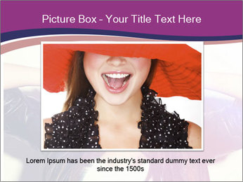 Closeup studio shot of pretty hipster teenage girl PowerPoint Templates - Slide 15