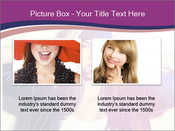 Closeup studio shot of pretty hipster teenage girl PowerPoint Templates - Slide 18