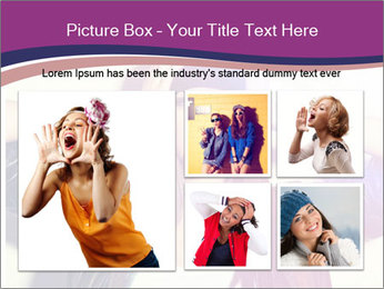 Closeup studio shot of pretty hipster teenage girl PowerPoint Template - Slide 19