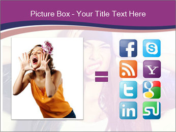 Closeup studio shot of pretty hipster teenage girl PowerPoint Template - Slide 21