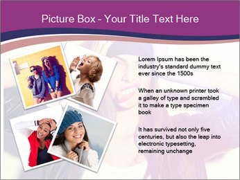 Closeup studio shot of pretty hipster teenage girl PowerPoint Template - Slide 23