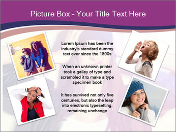 Closeup studio shot of pretty hipster teenage girl PowerPoint Template - Slide 24