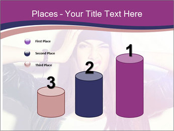 Closeup studio shot of pretty hipster teenage girl PowerPoint Templates - Slide 65