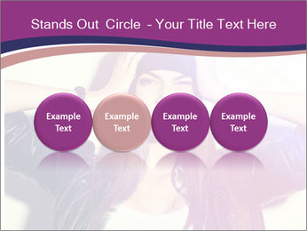 Closeup studio shot of pretty hipster teenage girl PowerPoint Templates - Slide 76