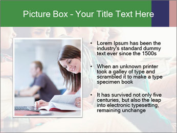 Group of young students preparing for exams r PowerPoint Template - Slide 13