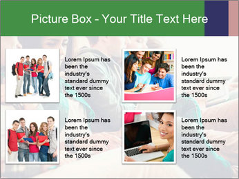 Group of young students preparing for exams r PowerPoint Template - Slide 14