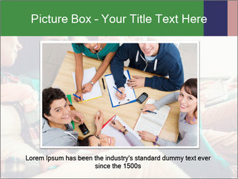 Group of young students preparing for exams r PowerPoint Template - Slide 15