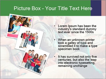 Group of young students preparing for exams r PowerPoint Template - Slide 17