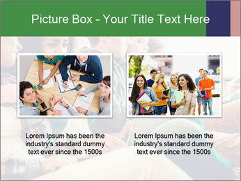 Group of young students preparing for exams r PowerPoint Template - Slide 18
