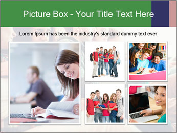 Group of young students preparing for exams r PowerPoint Template - Slide 19