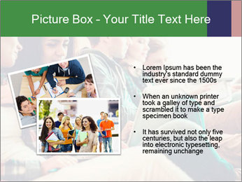 Group of young students preparing for exams r PowerPoint Template - Slide 20