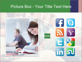 Group of young students preparing for exams r PowerPoint Template - Slide 21
