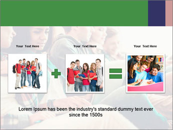 Group of young students preparing for exams r PowerPoint Template - Slide 22