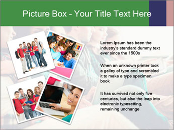 Group of young students preparing for exams r PowerPoint Template - Slide 23