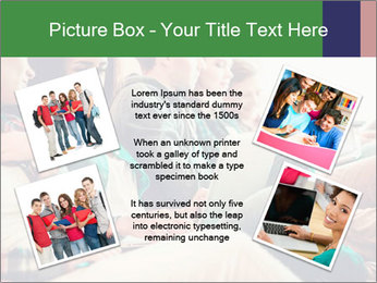Group of young students preparing for exams r PowerPoint Template - Slide 24