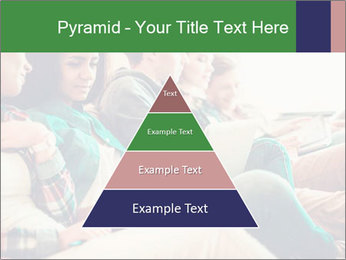 Group of young students preparing for exams r PowerPoint Template - Slide 30
