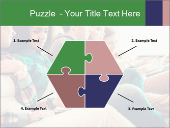 Group of young students preparing for exams r PowerPoint Template - Slide 40