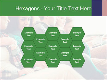 Group of young students preparing for exams r PowerPoint Template - Slide 44