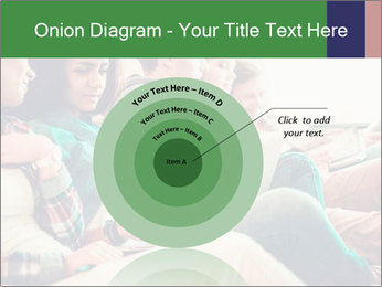 Group of young students preparing for exams r PowerPoint Template - Slide 61
