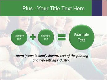 Group of young students preparing for exams r PowerPoint Template - Slide 75