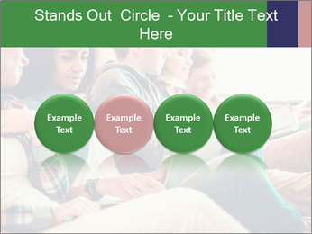 Group of young students preparing for exams r PowerPoint Template - Slide 76
