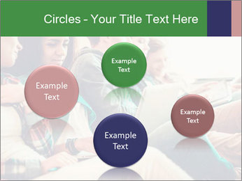 Group of young students preparing for exams r PowerPoint Template - Slide 77