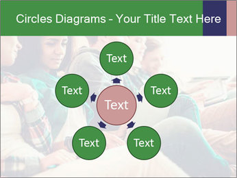Group of young students preparing for exams r PowerPoint Template - Slide 78