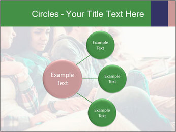 Group of young students preparing for exams r PowerPoint Template - Slide 79