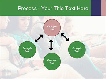 Group of young students preparing for exams r PowerPoint Template - Slide 91