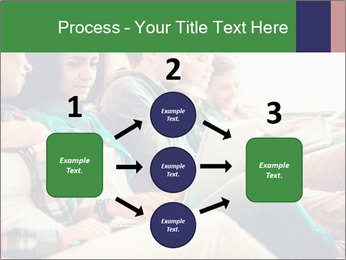 Group of young students preparing for exams r PowerPoint Template - Slide 92