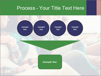 Group of young students preparing for exams r PowerPoint Template - Slide 93