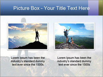 Young woman with backpack standing PowerPoint Template - Slide 18
