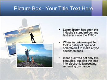 Young woman with backpack standing PowerPoint Template - Slide 20