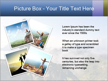 Young woman with backpack standing PowerPoint Template - Slide 23