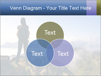 Young woman with backpack standing PowerPoint Template - Slide 33