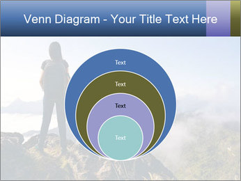 Young woman with backpack standing PowerPoint Template - Slide 34