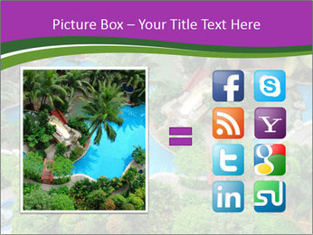 Palm and Swimming pool PowerPoint Template - Slide 21