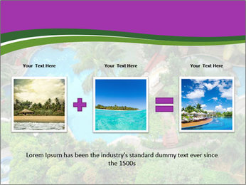 Palm and Swimming pool PowerPoint Templates - Slide 22