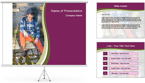 Man Missing you PowerPoint Template