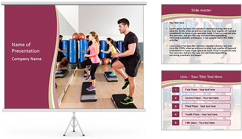 Step Aerobics Class PowerPoint Template