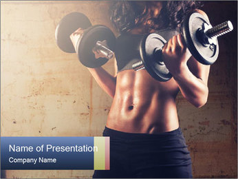Fitness woman in training PowerPoint Template - Slide 1