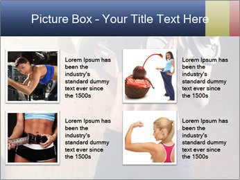 Fitness woman in training PowerPoint Template - Slide 14