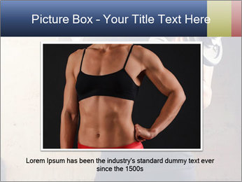 Fitness woman in training PowerPoint Template - Slide 15