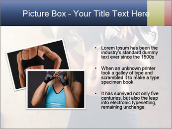 Fitness woman in training PowerPoint Template - Slide 20