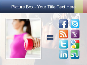 Fitness woman in training PowerPoint Template - Slide 21