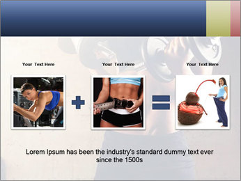 Fitness woman in training PowerPoint Template - Slide 22