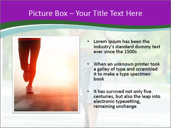 Running woman jogging in city street park at beautiful summer morning PowerPoint Templates - Slide 13