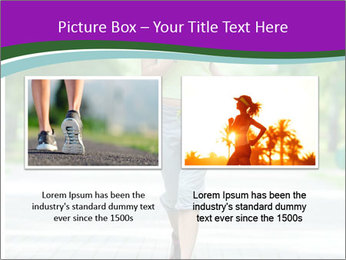Running woman jogging in city street park at beautiful summer morning PowerPoint Template - Slide 18