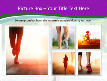 Running woman jogging in city street park at beautiful summer morning PowerPoint Template - Slide 19