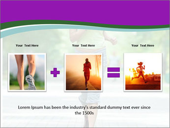 Running woman jogging in city street park at beautiful summer morning PowerPoint Template - Slide 22